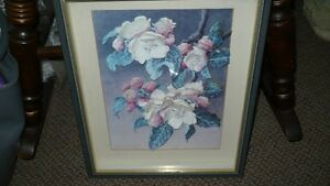 VINTAGE BEAUTIFUL 3D HAND CAST PAPER ART FLORAL SHADOW BOX Kitchener / Waterloo Kitchener Area image 1