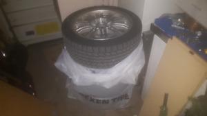 Mags e46 m3 mstyle replica avec pneu hiver toyo tires 225/45r17