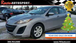 YEAR END SALE! CERTIFIED 2011 MAZDA3 GX - AUTO - LOADED -YORKTON