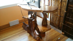 One of a kind exotic   wood carved tv stand Kingston Kingston Area image 9