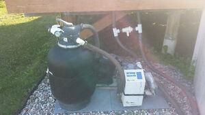 Salt water pool equipment.