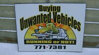 CASH FOR YOUR UNWANTED CAR, TRUCK, VAN, SNOWMOBILE, etc...