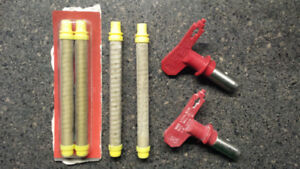 Titan XT paint sprayer tips (413 & 415) and 4 filters (2 new)
