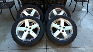 4 Goodyear Allegra all season tires and rims