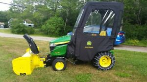 John Deere X580 Tractor with 47 inch Snow Blower and Cab
