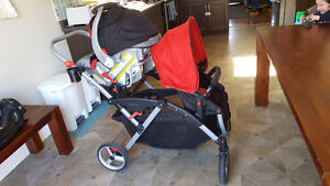 Contours Options LT Double Stroller AND Infant Car Seat