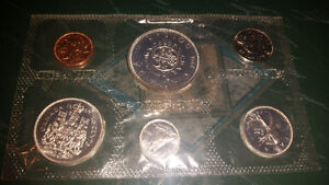 Amazing 1964 mint uncirculated silver sets complete..only 35$... London Ontario image 1