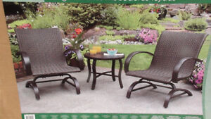 *BRAND NEW IN BOX* Woven Rocking Chair Set w/ Table *WORTH $400*