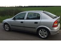 VAUXHALL ASTRA SXI 1.6L (2002) year mot Low miles
