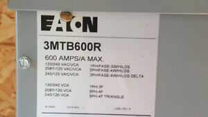 Eaton Electrical Panel 3MTB600R