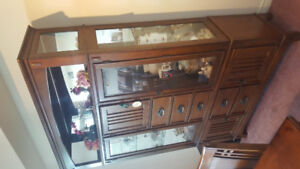 Dining room glass cabinet with lights