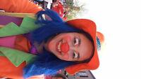 Animation de foules clown personnage maquillage, ballon
