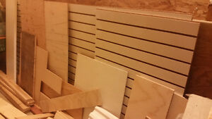 Slat board and other wood