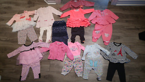 Lot bébé fille Carters/ Tommy Hilfiger 3 mois et 6 mois