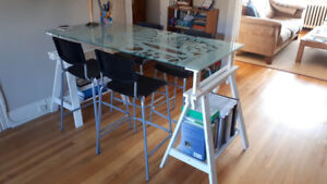 IKEA table and stools