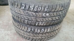 Pair of 2 Cooper CS4 Touring 215/60R16 tires (65% tread life)