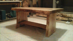 Solid spalted birch coffee table