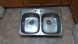 Double stainless steel sink $40