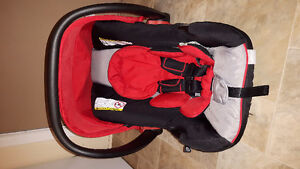 Red and Black Urbini carseat and base