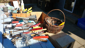 Garden tools miscellaneous lot best offer