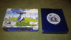 The sound of music blu ray movie and ET DVD boxset