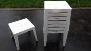Plastic side tables