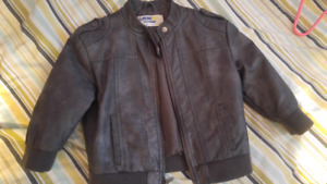 18 months Oshkosh leather jacket.