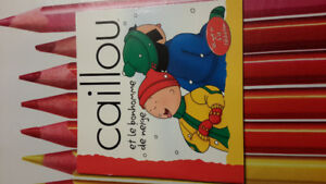 2 FRENCH  Caillou titles (paperbacks)