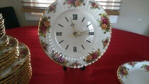 Very Rare Old Country Rose Clock and various other items