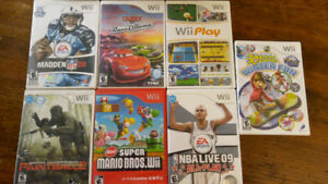 Wii Video Games Box Lot Offer