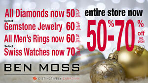 BEN MOSS JEWELLERS - GOING OUT OF BUSINESS SALE Strathcona County Edmonton Area image 1