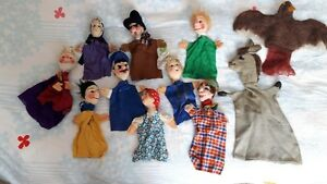 Assorted hand puppets