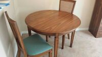 Wood Dinning Table and 3 Chairs