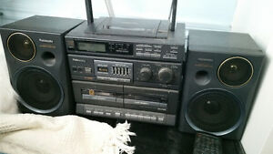 Panasonic CD/tape player with radio
