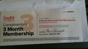 Good Life Fitness 3 Month Membership