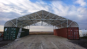 IN STOCK FABRIC BUILDINGS