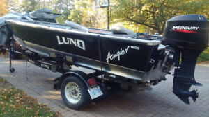 Lund Angler with 40 HP Mercury
