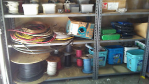 Electrical Wire, Supplies, Tools & Misc – Entire Lot  $300.00