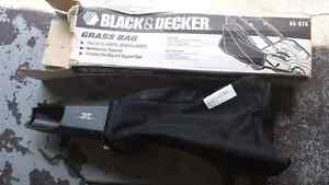 Black and Decker lawnmower grass bag.