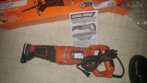Black and decker reciprocating saw.  New