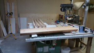 general table saw 50-275, 3hp, right tilt, new switch! - $650