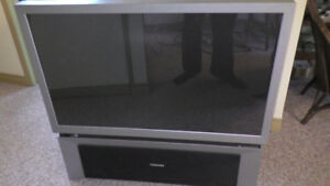 "$25 46"" Rear Projection TV"
