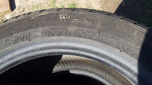 (4) Kumho Summer Tires 215/50R15 London Ontario image 2