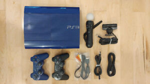 PS3 BLUE + 19 games+ blue controller + camera + 1 move