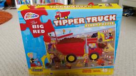 Grafix Big Red Tipper Truck floor puzzle