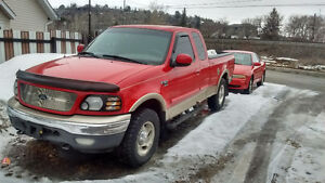 2001 Ford F-150 Red Pickup Truck 1500$