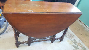 Antique Solid Wood Folding Table