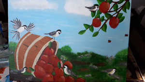 Painting of  Basket of Apples