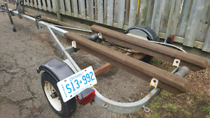12 to 14 ft galvanized boat trailer.