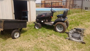 "2008 54"" Deck Garden Tractor with Front Bumper and Trailor"